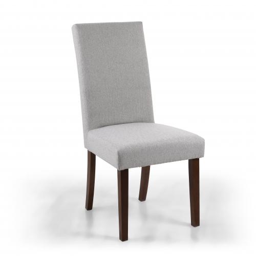 Ridley Herringbone Plain Cappuccino Dining Chair in Walnut Legs